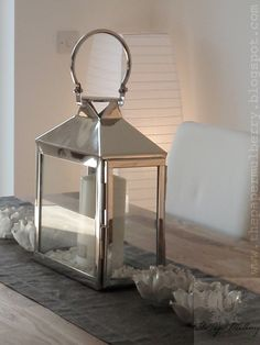 Floor standing paper lantern, candle lanterns and votives - metal and glass windlight from www.Lombok.co.uk