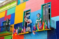 Colourful houses in Buenos Aires Argentina