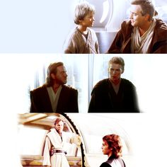 I really miss this. Before he turned, Obi-Wan was like his big brother; something Anakin had never had. Even when he started to turn, he just wanted Anakin to be OK. That's why Obi-Wan didn't kill him, just injured him, because he still saw that little boy who just wanted himself and his mom to be free. He just couldn't stand to think he was gone.
