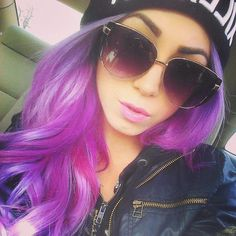 Swaggin with the purple hair & bling shades