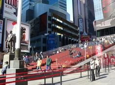 TKTS Red Steps Times Square  #stairs Pinned by www.modlar.com