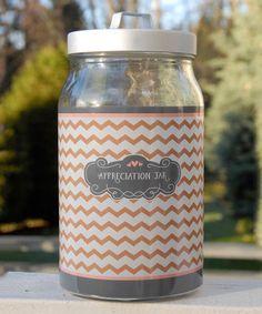 Loving this Chevron 'Appreciation Jar' Décor on #zulily! #zulilyfinds