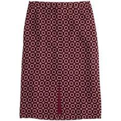 J.Crew Soft pencil skirt in rosewood