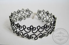 Luna  lace tatted choker necklace in Gothic by GaleriaKoronki