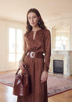 Parisian style boho dress for Autumn Style Bobo Chic, Chic Outfits, Fashion Outfits, Style Parisienne, Mode Plus, Moda Casual, Mode Boho, Boho Fashion, Womens Fashion