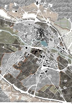 Urban planning project for the town of Castelnaudary (France).  The theme was, how to link the city with a new environment; a wild nature?