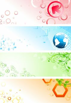 BANNER / Free vector Vector banner Abstract and colourful banners