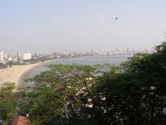 Chowpatty view from Hanging garden, Mumbai.