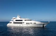 The 46m @TrinityYachtsUS built #MYCarpeDiemII at #YachtsMiamiBeach.. #SuperyachtFinishingServices www.absoluteboatcare.net