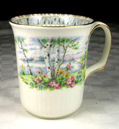 "Royal Albert Bone China Silver Birch 3 7 8"" Coffee Mug | eBay"