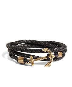 Dark Brown Bracelet by Kiel James Patrick for Brooks Brothers