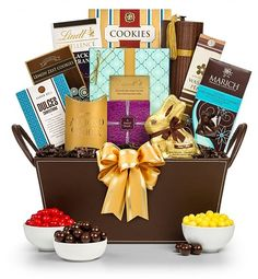 Joy of easter gift basket gourmet baskets easter chocolate and whats in your easter basket how about gourmet lindt and marich chocolates lemon zest negle Image collections