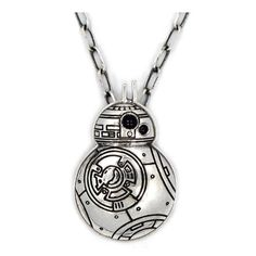 Star Wars: TFA BB-8 Sterling Silver Pendant Necklace - Han Cholo - Star Wars - Jewelry at Entertainment Earth Bb8 Star Wars, Star Wars Film, Jewelry Stores, Jewelry Box, Women Jewelry, Star Wars Schmuck, Silver Pendant Necklace, Sterling Silver Pendants, Star Wars Lampe
