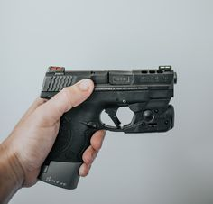Just an M&P Shield with a TRUE Stealth Grey DLC Barrel
