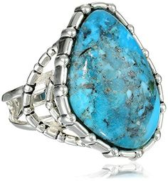 Barse Silhouette Sterling Silver Turquoise Abstract Ring Size 7 >>> You can get more details by clicking on the image.(This is an Amazon affiliate link and I receive a commission for the sales)