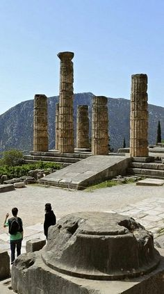 Temple of Apollo in Delfi, Greece. Tres and I went there on our trip to Greece. Was incredible!