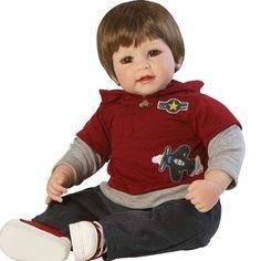 boneca adora doll up up and away boy - bebe reborn - 2020863 Reborn Baby Boy Dolls, Toddler Dolls, Reborn Babies, Life Like Baby Dolls, Life Like Babies, Beanie Boos, Dora Doll, Wiedergeborene Babys, Realistic Baby Dolls