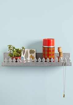 Castle of Character Shelf. Whether you dwell in a dorm room or live large in a mighty mansion, you can give your beloved abode the royal treatment it deserves with this metal wall shelf! #silver #modcloth