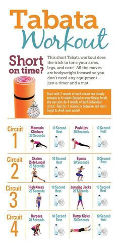 Tabata Workout | Posted By: AdvancedWeightLossTips.com
