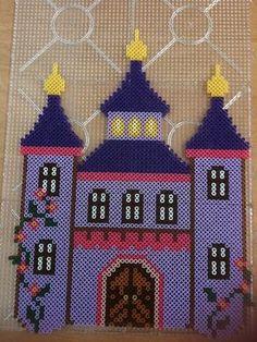Purple castle hama perler by Crazynter