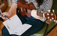 ukulele-ing and writing :)