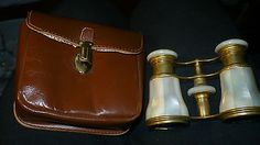 1892 Lovely Vintage LEMAIRE Mother-of-Pearl Opera Glasses with pouch - http://cameras.goshoppins.com/binoculars-telescopes/1892-lovely-vintage-lemaire-mother-of-pearl-opera-glasses-with-pouch/
