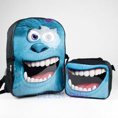 monsters university backpack | Monsters University Backpack AND Lunch BAG Attachable SET Sulley Boys ...