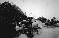 Paddle boat on Murray nRiver, Echuca, Victoria 1905 Australian Photography, Murray River, Paddle Boat, Melbourne Victoria, Old Photos, Old Things, It's Wonderful, Steamers, History