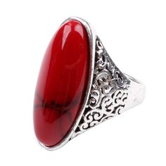 CA Red Turquoise Fashion Women's Ring Jewelry Size Ring. Material: Gold Plated Us Size: £ºUS Red. Package: 1 New Perfect Item With PP Bag. Turquoise Fashion, Red Turquoise, Jewelry Rings, Jewelry Watches, Jewellery, Statement Rings, Jewelry Stores, Gemstone Rings, Fashion Jewelry