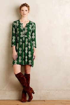 Not sure if this would flatter me but love the color and pattern Devery Shirtdress - anthropologie.com                                                                                                                                                                                 More