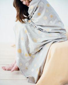 Needle-Felted Blanket with Felt Circles