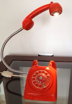 Vintage Telephone Rotary dial Led Lamp by MexVintageAntiques