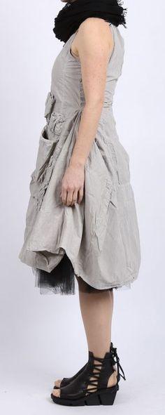 rundholz dip - Kleid Cotton mit Reißverschluss grey pigment- Sommer 2016