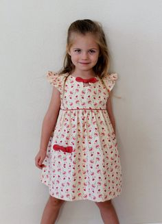 GIRLS DRESS PATTERN Maddie Lou Dress sizes di TheFreckledPear