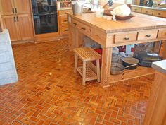 End grain wood floors, wow these are stunning.