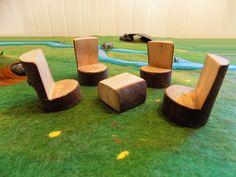 Holzspielzeug - Versandkostenfrei: 4 Stühle und 1 Tischchen - ein Designerstück von Woellfchen bei DaWanda