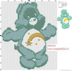 Wish Bear from Care Bears cartoon cross stitch pattern free