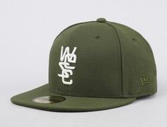 overlay wool olive 59fifty fitted baseball cap wesc new era