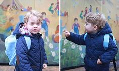 The lively two-year-old is attending Westacre Montessori School near the family home, Anmer Hall in Norfolk. He was taken to the school gates by the Duke and Duchess of Cambridge.