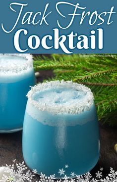 of the Best Christmas Cocktails Jack Frost Cocktail – Cocktails and Pretty Drinks Winter Cocktails, Best Christmas Cocktails, Christmas Drinks Alcohol, Holiday Cocktails, Christmas Mocktails, Pina Colada, Blue Drinks, Blue Curacao Drinks, Acapulco