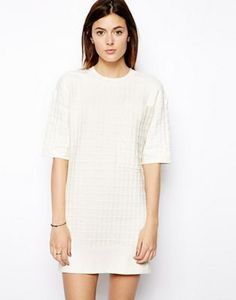 ASOS Structured Waffle Knit Dress