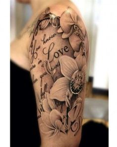 Quote flower tattoos for girls