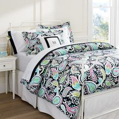 So cute and would match with a lot http://www.pbteen.com/products/lola-paisley-duvet-cover/?pkey=cview-all-duvets