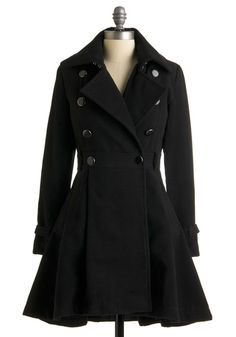 Seriously need a pea coat with this type of vintage swing skirt!