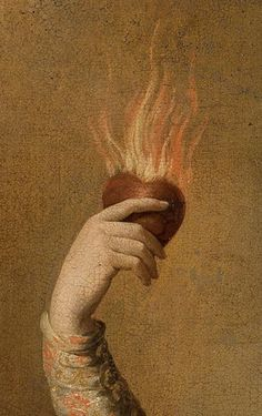 Flaming Heart Art Print by Wanker & Wanker - X-Small Renaissance Kunst, Renaissance Paintings, Art And Illustration, Power Trip, Classical Art, Aesthetic Art, Aesthetic Wallpapers, Art Inspo, Art History