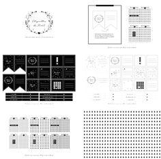 Free Printable Black & White Christmas Tags