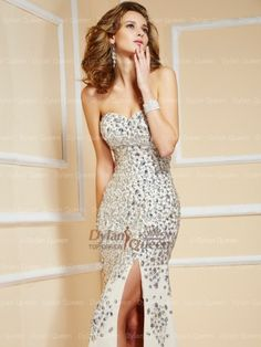 Strapless Sweetheart Sweep/Brush Train Chiffon Evening Dress with Beading Sexy Evening Dress, Evening Dresses Online, Chiffon Evening Dresses, Cheap Evening Dresses, Cheap Prom Dresses, Evening Gowns, Strapless Dress Formal, Sleeveless Dresses, Prom Dress 2014
