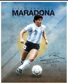 Diego Maradona Legend Football World Cup Poster Fridge Magnet Size Legends Football, Football Icon, Football Soccer, Soccer World, World Football, American Football, Argentina Soccer Team, Maradona Football, Fifa
