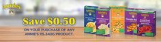 Walmart Canada Coupons: Save 50 Cents On Annies Products Printable Coupon http://www.lavahotdeals.com/ca/cheap/walmart-canada-coupons-save-50-cents-annies-products/161803?utm_source=pinterest&utm_medium=rss&utm_campaign=at_lavahotdeals
