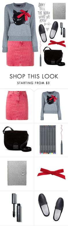 """""""Outfit of the middle of the night"""" by deepwinter ❤ liked on Polyvore featuring Frame, Love Moschino, Loeffler Randall, Dassie, Bobbi Brown Cosmetics, Amb Ambassadors of minimalism and Harry Rocks"""